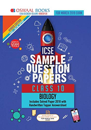 Oswaal ICSE Sample Question Papers Class 10 Biology (For March 2019 Exam)