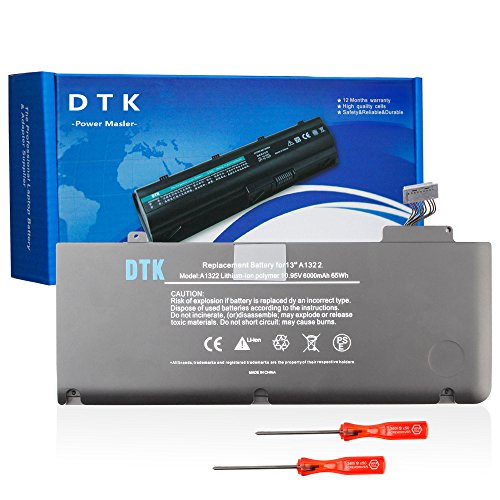 Dtk® Notebook Laptop Batterie ADpower Ersatz Akku A1322 Akku für Apple MacBook Pro 13