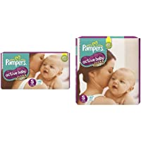 Pampers Active Baby Diapers, Small, 46 Count&Pampers Active Baby Diapers, Small, 92 Count