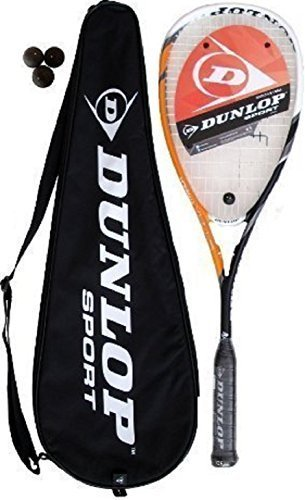 Dunlop - Racchette da squash C-Max Titanium, 3 palline incluse