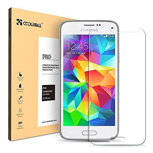 Samsung Galaxy S5 mini protector de pantalla, Coolreall(TM) Vidrio Tem
