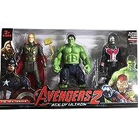 Avengers 2, Age Of Ultron, Işıklı Hulk - Wasp - Thor SET, Kol Bacak Hareketli