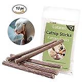 Cat Sticks, Juguete para Gatos Catnip, 10 Palitos De Hierba Gatera De Matatabi para Gatos Natural Cuidado Dental Chew Catnip Sticks para Gatitos Dientes Diámetro
