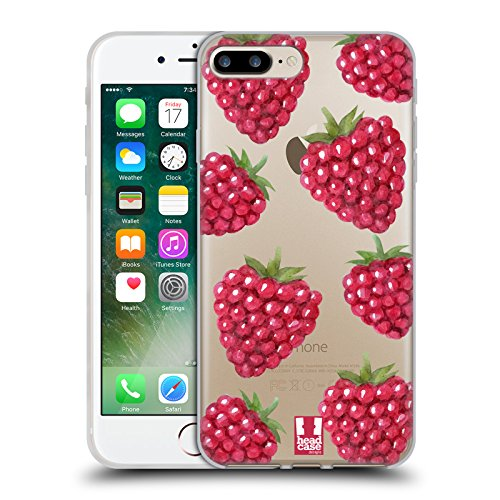 Head Case Designs Frucht Zitrone Und Beeren Soft Gel Hülle für Apple iPhone 6 Plus / 6s Plus Himbeeren