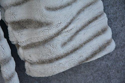 Abbigliamento Elegante Da Bagno Morbido Accappatoio A Manica Lunga Donna Adulti Scialle Collare Stripe