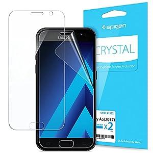 Spigen® [2 Stück] Samsung Galaxy A5 2017 Schutzfolie 0.05mm PET, LCD Film Displayschutzfolie für Galaxy A5 2017, Samsung A5 2017 Folie (573FL21222)