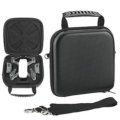 Flycoo Hardshell Storage Carrying Case Shoulder Bag for DJI Spark Drone Battery Charger and Propeller Accessories - Black Bag
