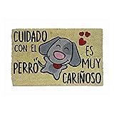 Koko Doormats Cuidado con el Perro, Felpudo Divertido y Original para ..