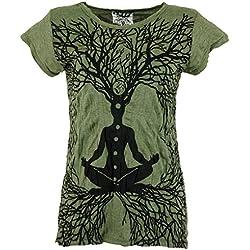 Camiseta Sure Color Oliva, Algodón, Tamaño:S (36), Camisas Seguras