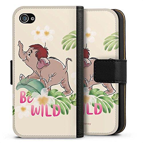 Apple iPhone X Silikon Hülle Case Schutzhülle Dschungelbuch Disney Junior Sideflip Tasche schwarz