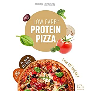 Body Attack, Protein Low Carb Pizza Backmischung – High Protein und nur 5,9g Kohlenhydrate, 1er Pack (1x 157g)