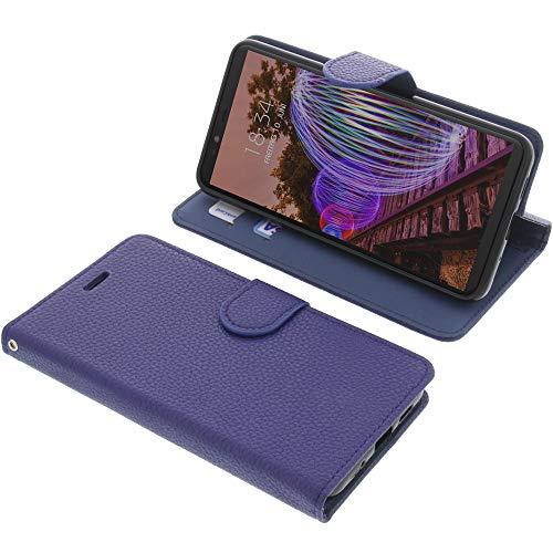 foto-kontor Tasche für JVC J20 Book Style blau Schutz Hülle Buch