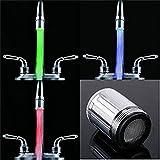 GuDoQi 3 Farben Wechselnde Hahn LED Licht Wasser...