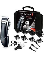 Remington HC363C Coffret Cheveux, Tondeuse Cheveux Lames Céramique Avancée, Auto-Affûtées, Auto-Lubrifiées, Anti Irritations, 8 Sabots - 5pcs