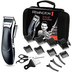 Remington Coffret Cheveux Tondeuse Cheveux Lames Céramique Avancée, Auto-Affûtées, Auto-Lubrifiées, Anti Irritations, 8 Sabots - 5pcs HC363C