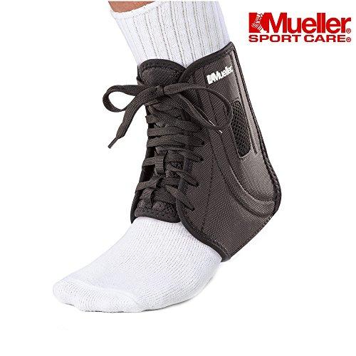 Mueller ATF 2 - Soporte de Tobillo para estabilizador de Maletero de articulación, Fisioterapia, rehaby recuperación, ATF2, Negro, Medium
