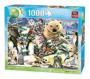 King Animal World Artic 1000 pcs Puzzle - Rompecabezas (Puzzle Rompecabezas, Fauna, Adultos, Animal World, Hombre/Mujer, 8 año(s))