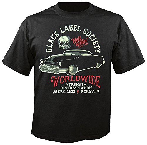 BLACK LABEL SOCIETY - Hell Riding Hot Rod - T-Shirt Größe XL - Black Label Crew