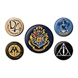 Véritable Warner Bros Harry Potter Poudlard 5 pièces Badge Set House Crest Magic