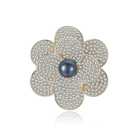 schmuck Frauen Mädchen Erstellt Design Blossom Blume Brosche Diamante Natürliche Perle Pins Hochzeit Bouquet kostüm - Accessoire