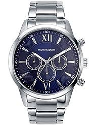 Mark Maddox HM6002-33 - Reloj de cuarzo para hombre, correa de metal color plateado