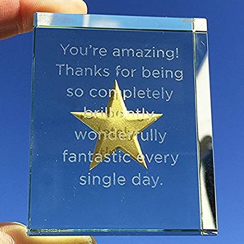 Spaceform Glass Token Gold Star You're Amazing 1935