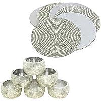Set di 6 Prisha India Craft ® Argento fatti a