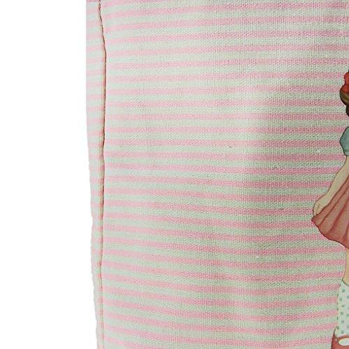 FakeFace süße niedliche Puppe Tunnelzug Mittagessentasche Lunchbox Picknick Tragetasche Rosa