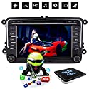 D-NOBLE Android 6.0 Autoradio Auto DVD Spieler Stereoanlage 7 Zoll Bildschirm Touchscreen 1024x600 HD LCD 2 Din 64Bit Quadcore 1G/16G Bluetooth 4.0 GPS Auto-Navigation Auto-Entertainment mit FM/AM RDS WiFi Mirror Link 1080P Canbus Lenkrad-Steuerung für VW