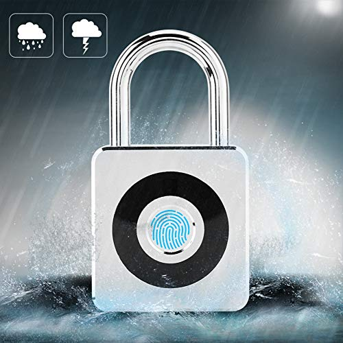 Candado inteligente con huella digital, cerradura impermeable sin llave de seguridad antirrobo para uso doméstico en viajes al aire libre