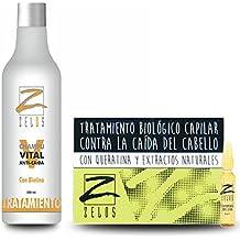 PACK AHORRO Tratamiento Para La Caída del Cabello Champú Anticaída y Placenta Vegetal 12 ampollas x 10 ml - Con Biotina, Queratina y Extractos Nauturales ...