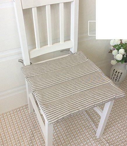 LJ&XJ Esszimmer stühle kissen,Baumwoll-kissen, die tatami kissen stuhlkissen mit krawatten sitzkissen für stuhl büro sitze student hocker holzböden japanisches essen-D 35x35cm(14x14inch) Outdoor Patio Kissen Stuhl
