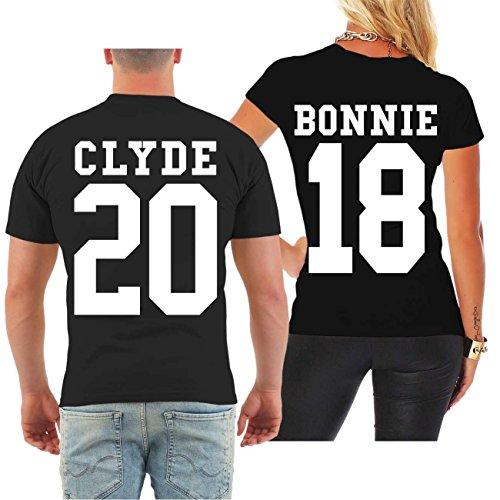 *Partnershirt BONNIE & CLYDE 2018 (mit Rückendruck) Größe S – 8XL*