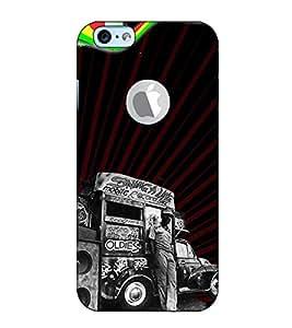 Fuson Designer Back Case Cover for Apple iPhone 6S (Logo View Window Case) (Mobile record shop)