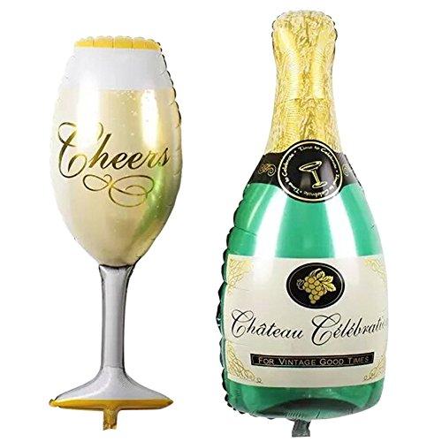 broadroot 2Party Luftballons Champagner Cup Bier Flasche Aluminium Folie Ballon-Set für Wand Raum Dekoration