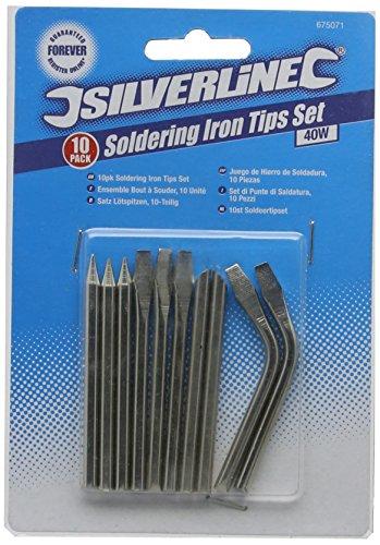Silverline 675071 – Puntas para soldador, 10 pzas (40 W)