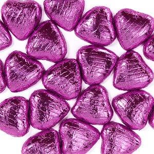 Rosa papier coeurs chocolat (paquet de 20)
