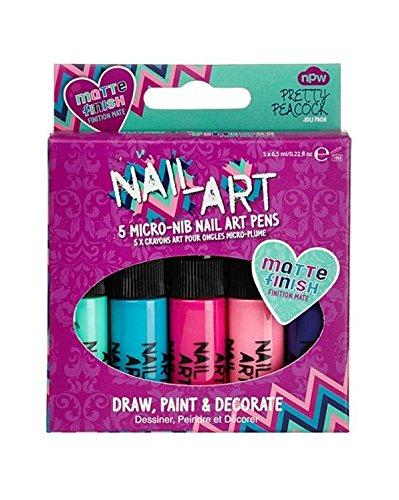 nail-art-mini-pens-pretty-peacock-smalto-con-finitura-opaca-5-pz