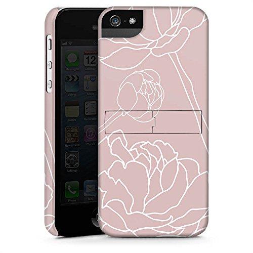 Apple iPhone X Silikon Hülle Case Schutzhülle Blumen Motiv Flower Premium Case StandUp
