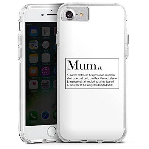 Apple iPhone 6 Plus Bumper Hülle Bumper Case Glitzer Hülle Mum Mama Muttertag Bumper Case transparent