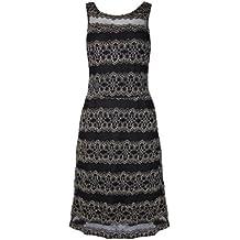 MyMust - Elegantes Kleid im Spitzen-Design - Schwarz/Crèmefarben
