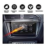 Protecteur d'écran en verre trempé pour système de navigation de (2017) (2018) Volkswagen VW Tiguan II GTE AllPace écran invisible cristal transparent HD protecteur d'écran, Protection des yeux, RUIYA