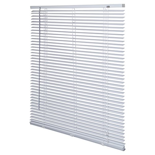 Intensions Persiana veneciana de aluminio, color blanco, aluminio, Blanco, 140x175cm