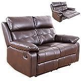 Unbekannt 2-Sitzer Sofa - Dunkelbraun - Kunstleder - Relaxfunktion