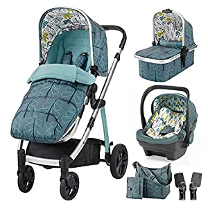Cosatto Wow 3 in 1 isize Travel System Fjord with Dock car seat Bag footmuff & Raincover   10