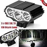 Eisen Armor Super helle Bike Head Light Front-Taschenlampe