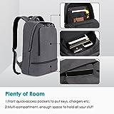 REYLEO Backpack Laptop Bag School Rucksack Waterproof Daypack for Men Women, Work, Travel, College - 21L / Grey