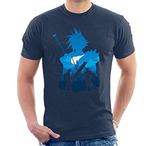Final Fantasy Battle Silhouette Men's T-Shirt (Fantasy-film-t-shirt)