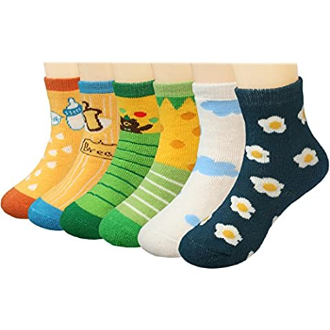 KF Baby Inverno caldo calzini confezione Set di 6paia), neonato a bambino