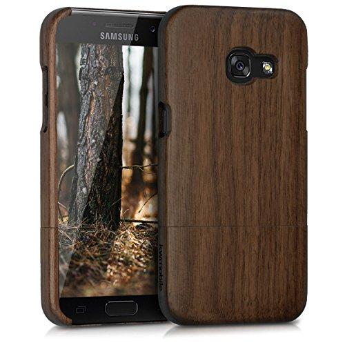 kwmobile Samsung Galaxy A3 (2017) Hülle - Handy Schutzhülle aus Holz - Cover Case Handyhülle für Samsung Galaxy A3 (2017) - Armee-samsung Galaxy S3 Case